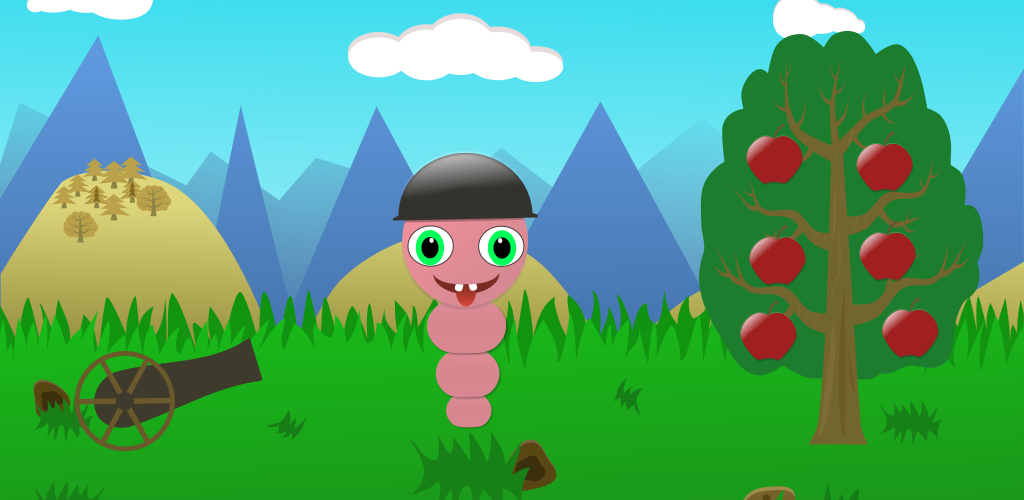 Apple Worm and Cannon - Godot game